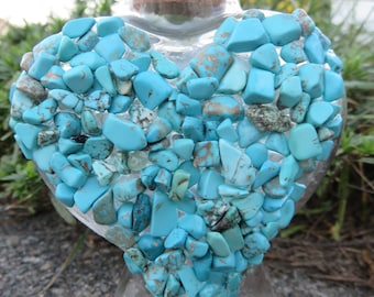 Turquoise Aroma Therapy Bottle