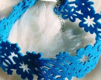 Choker - Choker necklace - Choker Felt