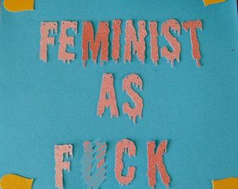 Feminist as F*ck Banner