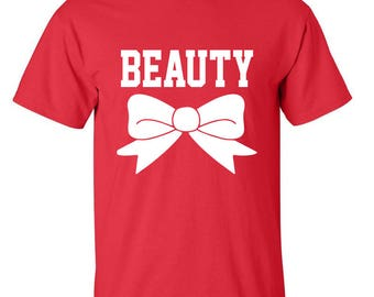 Beauty Beautiful Girls Printed Tees Men Size Unisex Designed Cotton T-Shirts for Men and Women