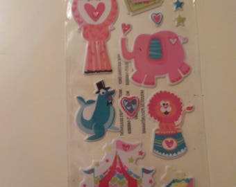 Recollections Puffy Circus Stickers