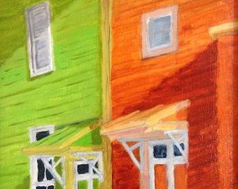 Sykesville Uneven, oil painting