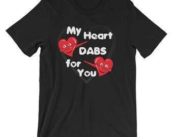 My Heart Dabs For You Shirt | Cute Valentines Day T-Shirt UNISEX Cute Dabbing Heart Emoji Valentines Day Gift for her and him