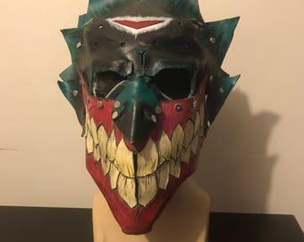 Handmade leather joker mask