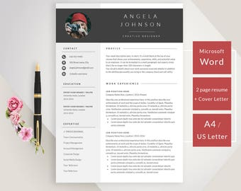 professional resume template resume template instant download free resume template resumes cover