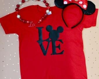 Kids Mickey LOVE shirt