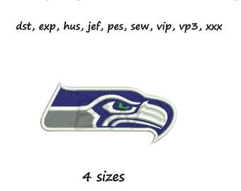Embroidery design - Seahawks - instant DOWNLOAD digital file for embroidery machines