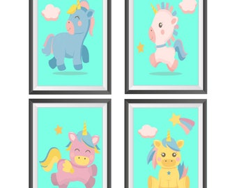 Printable Unicorn Nursery Wall Decor