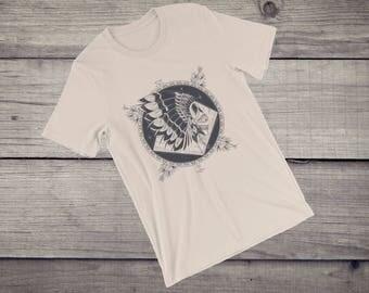 Native American T-Shirt indian skull feather headdress art Short-Sleeve Unisex T-Shirt tshirt tee