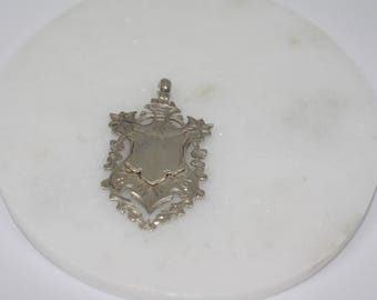 Sterling Silver Coat of Arms Pendant. Vintage, Hallmark 1905 Birmingham. Jewellery, pendant, vintage necklace, 925 silver, gift.
