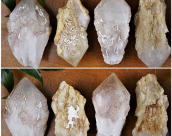 Striking Raw Candle Quartz Points, Celestial, Powerful Energy Healing, Uplifting Crystals, Best Sparkly Stones, Magic Semiprecious Inspiring