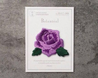 tiny gorgeous purple rose patch/flower patch/iron on patch/embroidered /patch for vans/applique