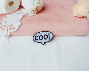 cool patch/iron on patch/sew on patch/embroidered patch/patch for jacket /girl patch