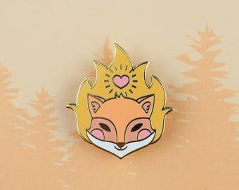 Ember Fox - Forest Elements enamel pin