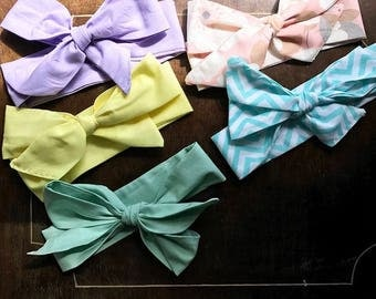Baby Head wraps (pastel collection)