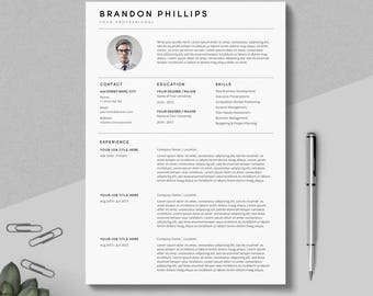 creative resume template resume template with photo clean resume 3 pages pack - Clean Resume Template