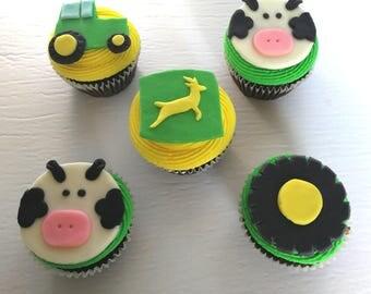 John Deere Cupcake Toppers