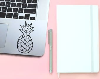 Pink Pineapple / MacBook Pro Decals / Pineapple Stickers / Pineapple Gifts / Laptop Decal / Computer Decals / Gift for Her / Fruit Stickers