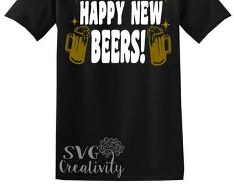 Happy New Beers SVG, Happy New Beers DXF, Happy New Year SVG