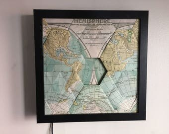 Hemisphere World Map - LEDOrigami Tessellation