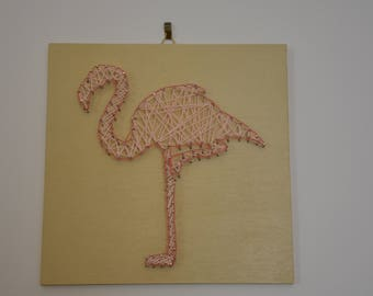 String Art-Quadro Flamingo Pink