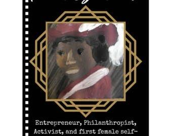 Madam C.J. Walker Notebook - Badass Ladies of History Journal