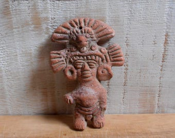 Inca figure / Aztec year terracotta South America