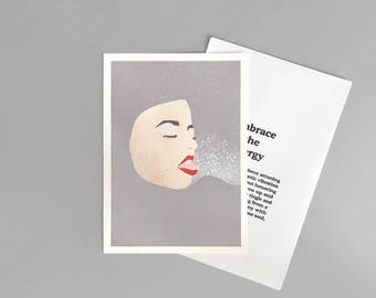 Embrace The Energy illustration ( with printed envelope)