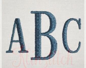 50% Sale!! Roman Monogram Embroidery Fonts 3 Sizes Three Letters Monogram Fonts BX Fonts Embroidery Designs PES Alphabets - Instant Download