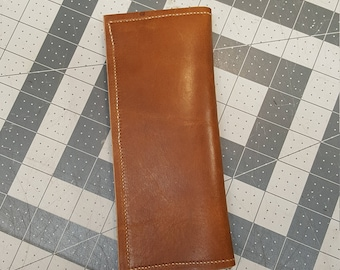 Men's Brown Leather Long Wallet