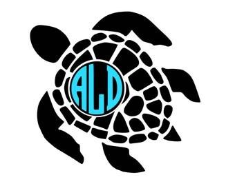 Download Sea turtle monogram | Etsy