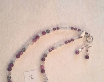 Amethyst with Swarovski Crystal necklace and Earrings Set