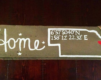 Customized Home State Barn wood sign