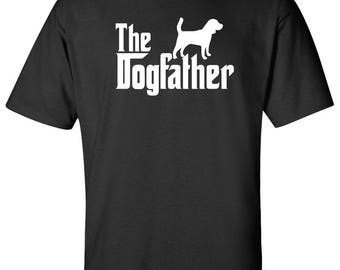 The Dogfather Beagle Dog Logo Graphic TShirt