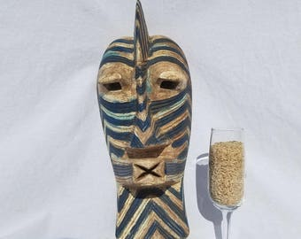 TRIBAL EXOTICS : PREMIUM Authentic fine tribal African Art - Songye Basongye Basonge Kifwebe Wood Mask Figure Sculpture Statue