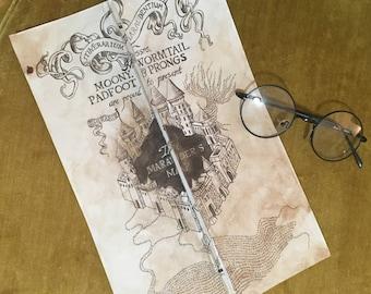 Hand Drawn Customizable - Marauder's Map (Harry Potter)