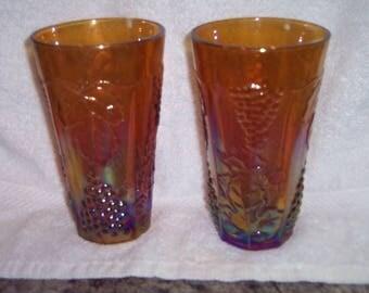 Amber Carnival Drinking Glasses