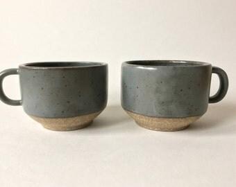 Dark gray speckled mug
