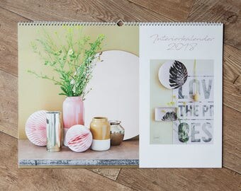 Wall Calendar 2018 in a2 format//Interiorkalender//Christmas gifts//wall//Gifts for you//Christmas gift