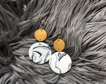 Gold and Marble dangles