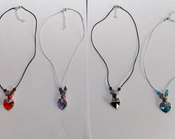 Adjustable necklaces in Sterling Silver 925 clasp and Swarovski Crystal