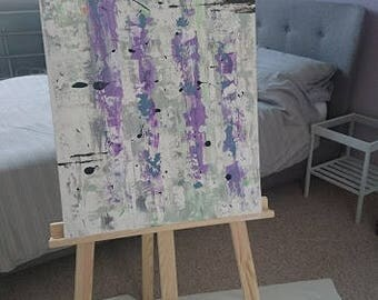 Abstract Handmade Art on Canvas Using Texture