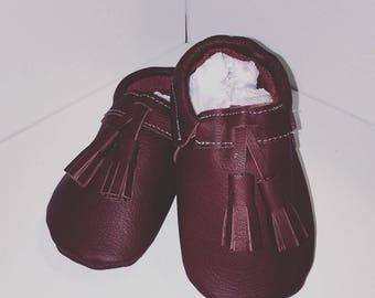 Leather Baby Tassel Loafer