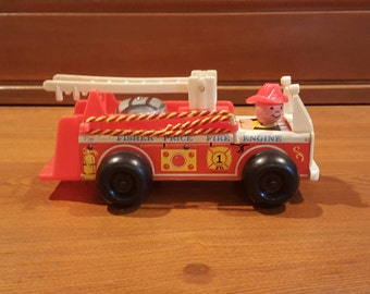 Vintage 1968 Fisher Price Fire Engine - 720