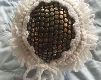 Handmade Knit Newborn Hat, Baby Bonnet, Photo Prop, Baby girl hat, Photography, Knit Baby Hat