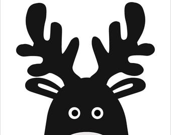Deer portrait A4 wall print