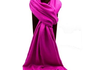 Pashmina, Scarf, Shawl Hot Pink Solid Color