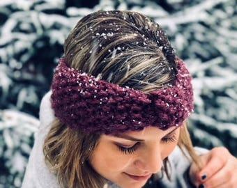 Headband - Knit Headband - Handmade Headband - Earwarmer - Wool Headband - Gifts for Her
