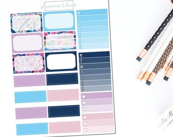 Cosmos - Half Boxes | Planner Stickers