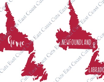 Newfoundland and Labrador SVG/DXF/PNG